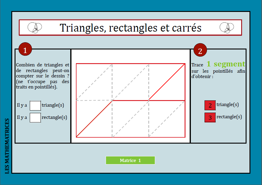 Triangles rectangles carrés